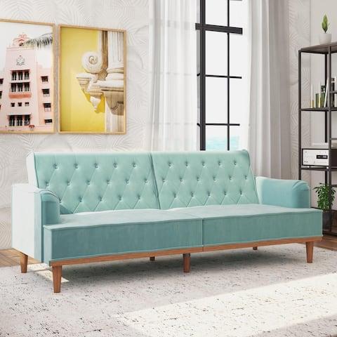 Mr. Kate Stella Vintage Convertible Sofa Bed Futon