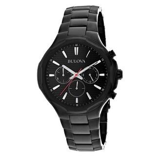 Bulova Men's Classic Black Dial Watch