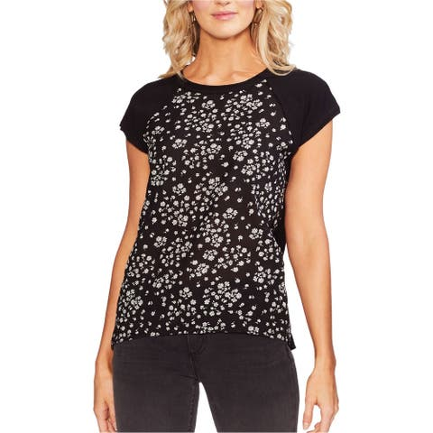 Vince Camuto Womens Floral Stamp Pullover Blouse