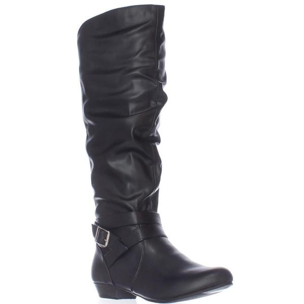Fergalicious Lara Tall Slouch Boots, Black