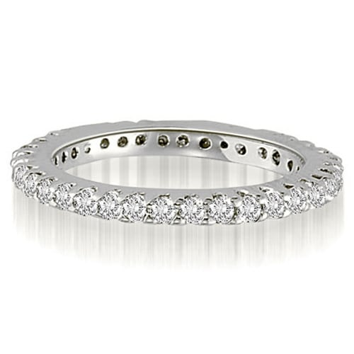 0.75 cttw. 14K White Gold Shared-Prong Round Cut Diamond Eternity Band