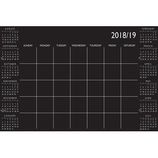 """Brewster WPE272X  24"""" x 36"""" Peel and Stick Repositionable Dry Erase 2018-2019 Academic Calendar with Marker"""
