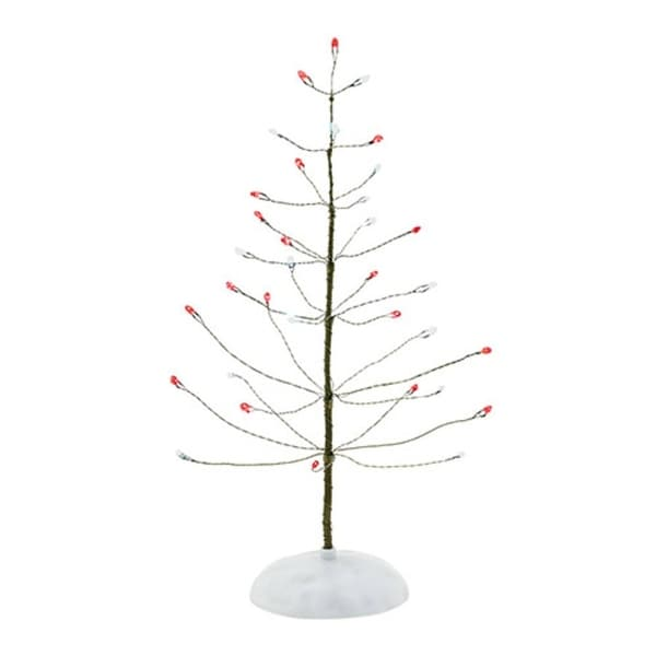 """Department 56 Snow Village """"Red & White Twinkle Brite Tree"""" Accessory #4038812 - green"""