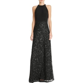 Adrianna Papell Womens Special Occasion Dress Sequined Embellished