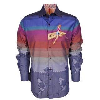 Robert Graham Limited Edition Numbered SHEEN Sports Dress Shirt 2XL