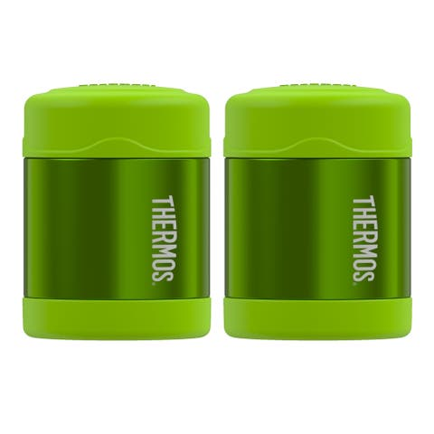 Thermos Funtainer 10 Ounce Food Jar - Lime Green 2PK - 10 Oz