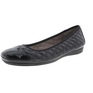 Naturalizer Womens Velma Faux Leather Toe Cap Ballet Flats