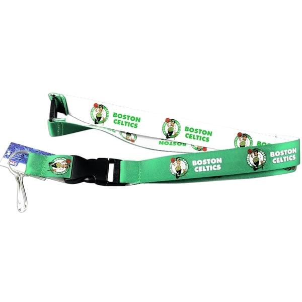Nba Boston Celtics Reversible Clip Lanyard Keychain Id Ticket Holder