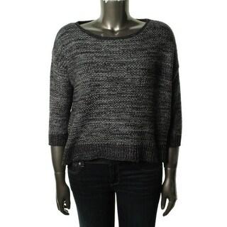 Denim & Supply Ralph Lauren Womens Marled 3/4 Sleeves Crop Sweater - M