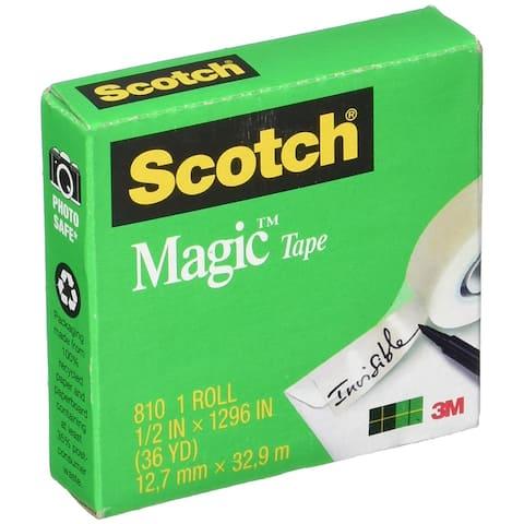 "Scotch 810 Magic Transparent Tape, 1/2"" x 36 Yards"