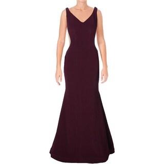 Xscape Womens Semi-Formal Dress Mesh Inset Colorblock