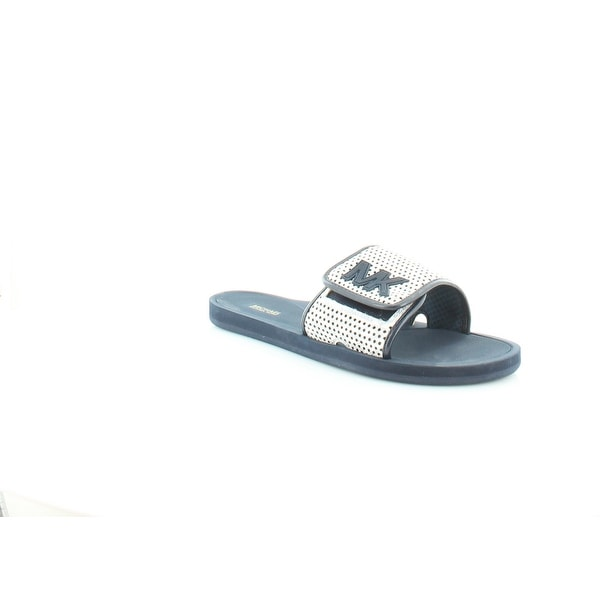 Michael Kors Slide Flat Sandals Women's Sandals & Flip Flops White /navy - 11