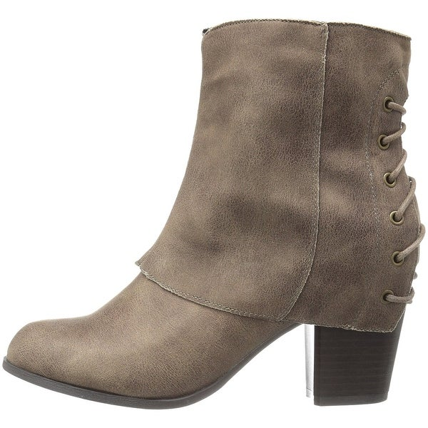 Fergalicious Womens Trina Fabric Closed Toe Ankle Fashion Boots