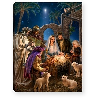 """Link to 8"""" Blue and Yellow Nativity Scene Lighted Tabletop Decor - N/A Similar Items in Christmas Decorations"""