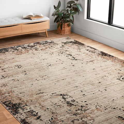 Alexander Home Reese Abstract Modern and Contemporary Area Rug