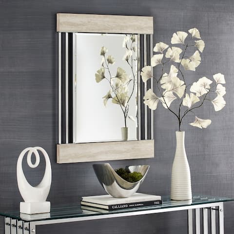 Alida Chrome Finish Wall Mirror by iNSPIRE Q Bold
