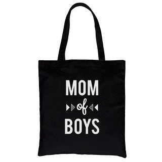 Shop Mom Of Boys Black Heavy Cotton Canvas Bag Funny Mothers Day Gifts Overstock 21340181