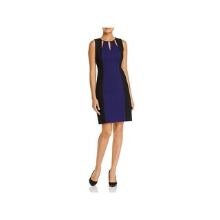T Tahari Womens Oleana Wear to Work Dress Cut Out Colorblock