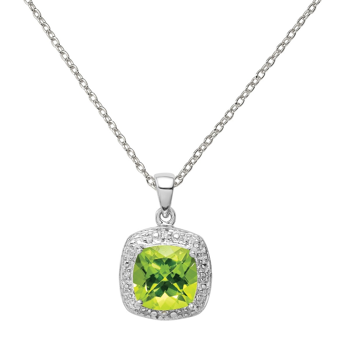 Sterling Silver Rhodium-plated SD State Pendant with chain