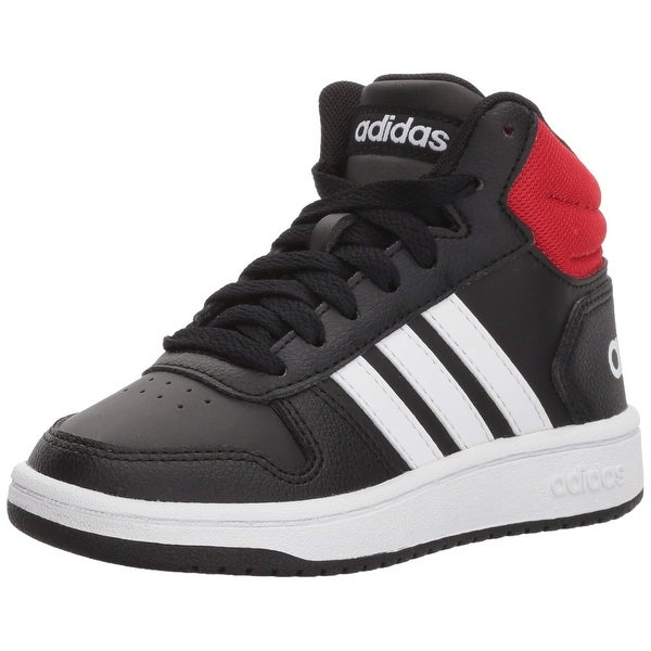 on sale 17e2c 384e2 Shop Adidas Kids Hoops Mid 2.0, BlackWhiteRed - Free Shipping Today -  Overstock - 27125041