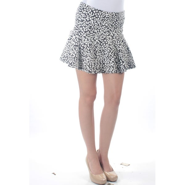 b4d562c82d Shop GUESS  69 Womens New 3691 Black White Animal Print Mini Drop Waist  Skirt 0 B+B - Free Shipping On Orders Over  45 - Overstock - 21307347