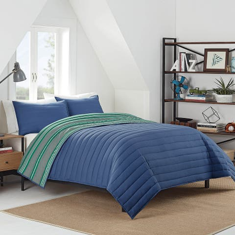 IZOD Patrick Reversible Striped Quilt Set
