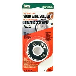 Oatey 53014 50/50 Solid Wire Solder, 1/4 lbs