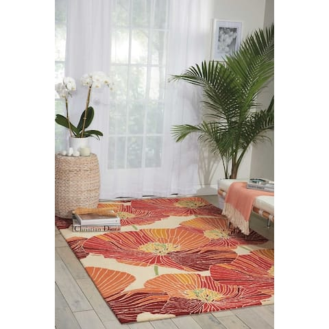 Nourison Fantasy Abstract Floral Area Rug