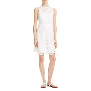 MICHAEL Michael Kors Womens Casual Dress Cotton Eyelet