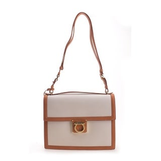 Salvatore Ferragamo Ginny Leather Shoulder Handbag - Brown - M