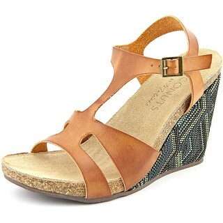Coconuts By Matisse Metro Open Toe Synthetic Wedge Sandal