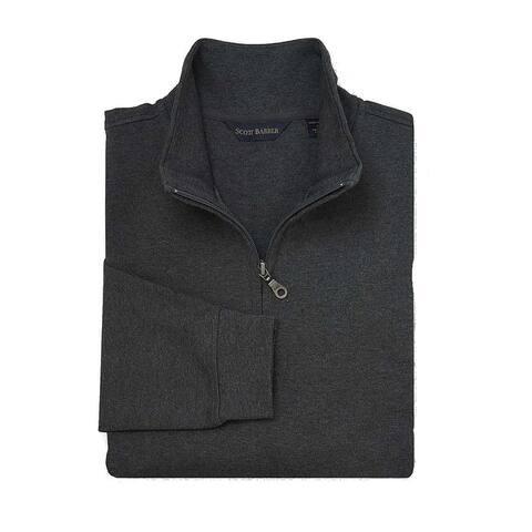 Scott Barber Mens Sweater Charcoal Gray Size Large L 1/2 Zip Melange