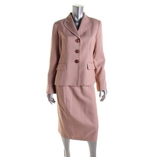 Le Suit Womens Woven Knee Length Skirt Suit - 6