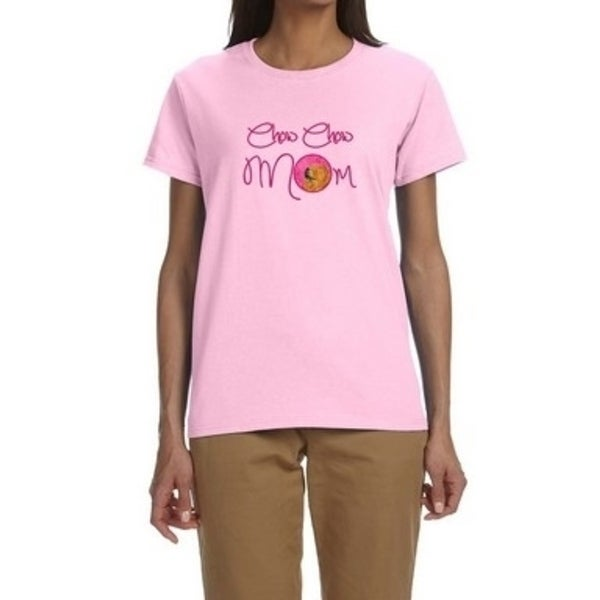 71dbc188b Shop Carolines Treasures SS4778PK-978-XL Pink Chow Chow Mom T-Shirt Ladies  Cut Short Sleeve Extra Large - Free Shipping On Orders Over $45 - Overstock  - ...
