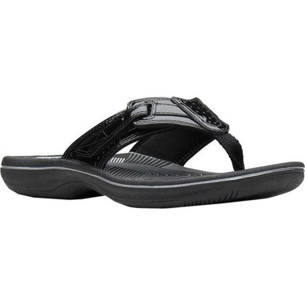 9a715d8fb5a8 Shop Clarks Women s Brinkley Reef Flip Flop Black Patent - On Sale - Free  Shipping Today - Overstock - 27346851