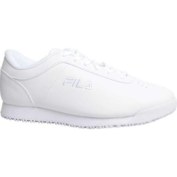 ee9f13bbc5 Shop Fila Women's Memory Quickstart Slip-Resistant Work Shoe White ...