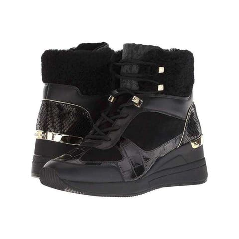 Michael Michael Kors Womens liv Suede Closed Toe Mid-Calf Cold Weather Boots