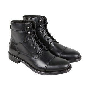 GBX Brando Mens Black Leather Casual Dress Lace Up Boots Shoes