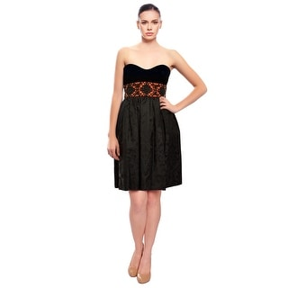 Escada  Velvet Jacquard Beaded Dress
