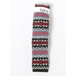 Bar III NEW Red Black Mens One Size Skinny Fair Isle Knit Neck Tie