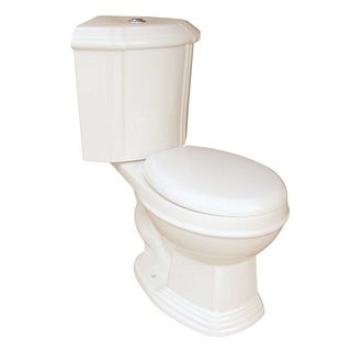 Bone China Round Space Saving Dual Flush Corner Toilet Renovator's Supply