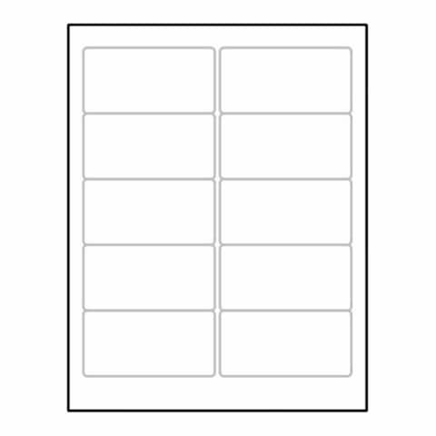 "Laser Label Sheet, 4"" x 2"" Laser Finish, Flat Sheet and Pre-Die Cut Labels (Box of 100) - 4 x 2 in"