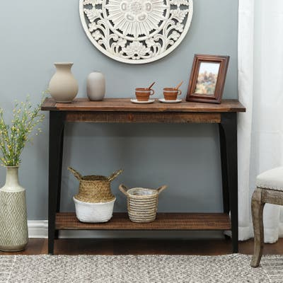 Wood and Metal Console and Entryway Table
