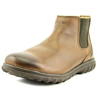 Bogs Eugene Men Round Toe Leather Brown Boot
