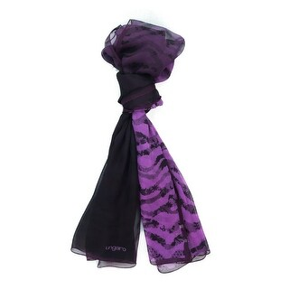 Ungaro UN7018 S8058 Floral Mesh Print Fuchsia Silk Scarf