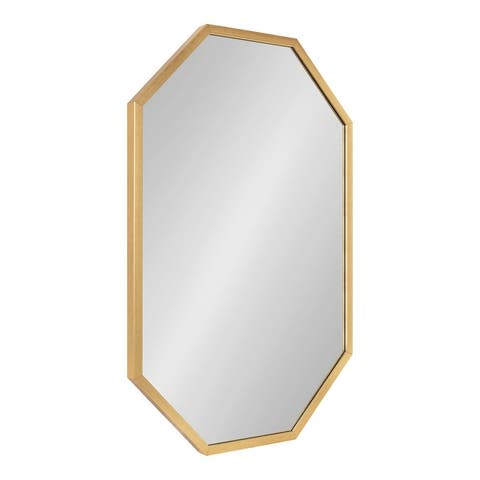 Kate and Laurel Laverty Octagon Framed Mirror - Black - 24x36