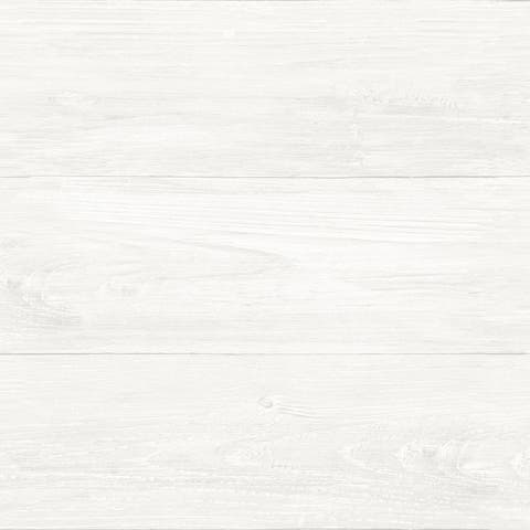 Brewster NU2494 Reclaimed Shiplap 30 3/4 Square Foot Coverage Faux Wood Panel Self-Adhesive Vinyl Wallpaper - White