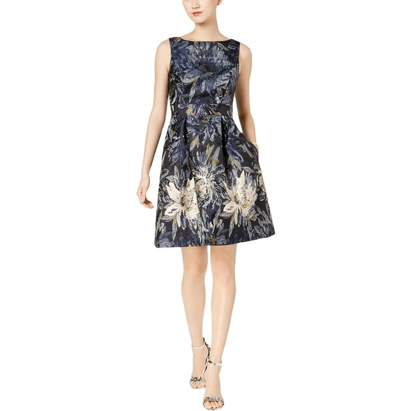 Jessica Howard Womens Special Occasion Dress Party Metallic