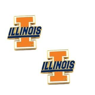Illinois Fighting Illini Post Stud Earring NCAA Charm Set
