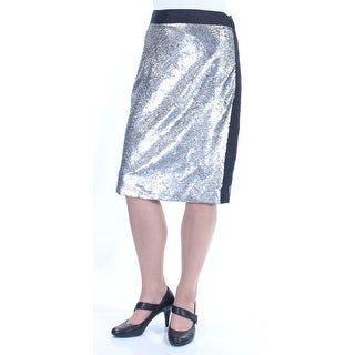 Womens Silver Party Skirt Size 10